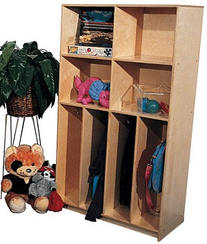 School Age Divided Locker for 4, 30''w x 15''d x 60''h