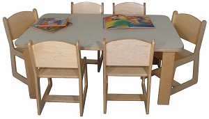 "Mainstream Rectangle Table 30""w x 48""d (Chairs Not Included) - Multiple Heights Available"