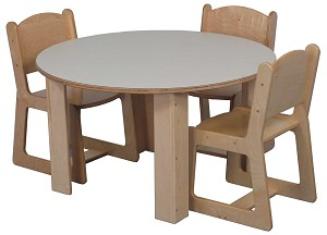 Mainstream 48'' Round Table (36'' Table Shown; Chairs Not Included) - Multiple Heights Available
