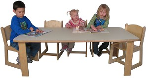 Mainstream Trapezoid Table, 30''d x 30''w x 60''w (Rectangle Shown; Chairs Not Included) - Multiple Heights Available