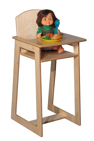 Mainstream Preschool-School Age Doll High Chair, 15''w x 15''d x 30''h