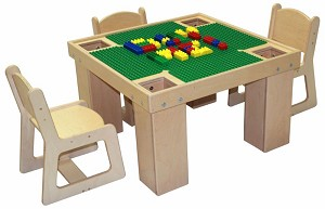 "Mainstream Manipulative Play Table, Toddler Through Young Adult, 29""W x 29""D x 19""H - 30""H"