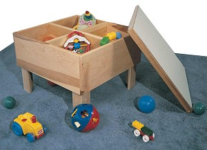 Mainstream Toddler Play Table, 24''w x 24''d x 17''h with or without Cover (Deluxe Cover Shown)