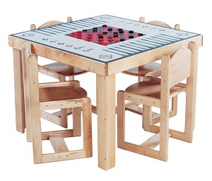 Mainstream School Age Game Table, 35''w x 35''d x 26''h (Deluxe Shown; Chairs Not Included)