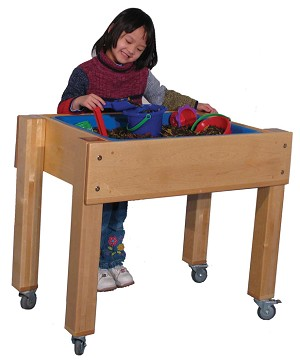 Mainstream Single Tub Sensory Table, Toddler, Preschool or School Age (Deluxe School Age Shown)