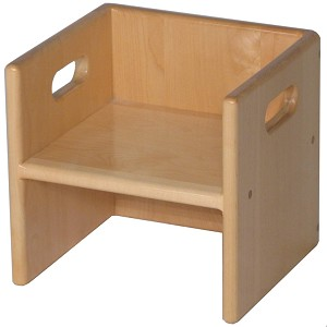 "Solid Maple Cube Chair, 11""w x 10""d x 10.5""h"