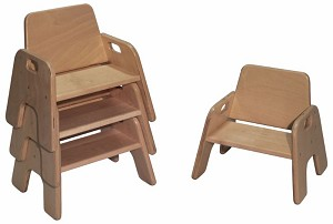 Deluxe Infant Infant/Toddler Stack Chair, 6.5''h Seat