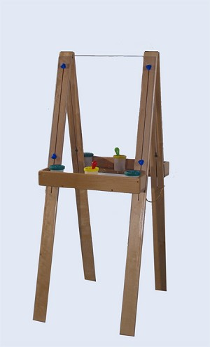 Deluxe Adjustable Easel with Lexan (School Age Shown)