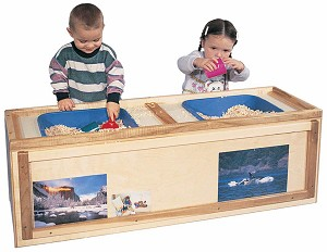 Deluxe Rectangle Cruiser Cabinet with Sensory Science Table