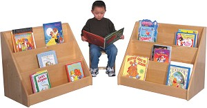 Deluxe Maple Infant-Toddler Book Display, 30''w x 16''d x 24''h