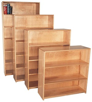 Deluxe Maple Bookcases
