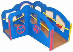 Infant Toddler Deluxe Transitional Dream Playground - Bright or Natural Colors