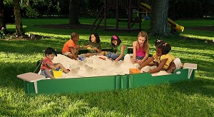 10 x 10 SandLock Sandbox with Cover