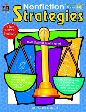 Non-Fiction Strategies Activity Book - 176 Pages- Grades 4 to 8
