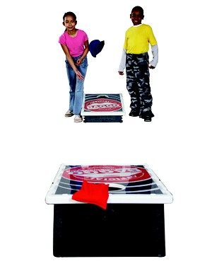 Baggo Beanbag Toss Game with Targets - Set of 8 Bean Bags and 2 Official Baggo Boards