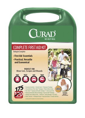Curad Latex-Free Complete First Aid Kit - 175 Pieces