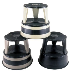 Kik Step Step Stool with Caster - Select Color