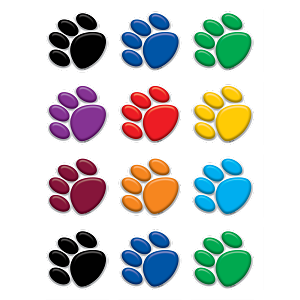 Colorful Paw Prints - Mini  Accents