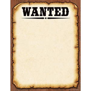 "Western Style ""Wanted"" - Computer Paper"