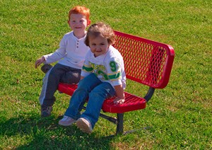 3' Portable Preschool Bench - Multiple Colors and Styles