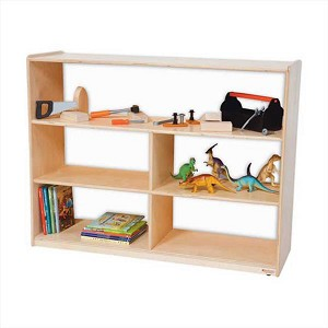 "Versatile Shelf Storage with Acrylic Back - 36""h"