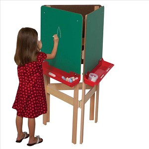 "3-Way Adjustable Easel with Chalkboard | 48""h x 20""w x 24""d"