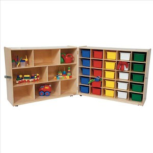 Tray and Shelf Folding Storage with (25) Assorted Trays