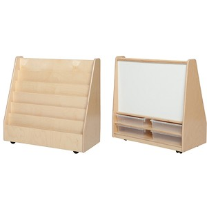 "Book Storage & Display with Markerboard, Optional Trays |  30""h x 30""w x 15""d"