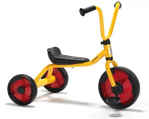 Toddler Tricycle with Low Frame, Yellow