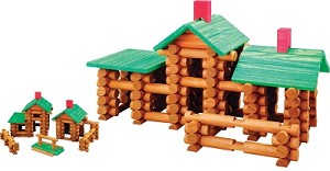 Old Fashioned Tumbletree Timbers Building Set - 144 Pieces