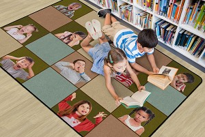 Social Emotional Seating Rug, Multiple Sizes, available in Earthtone or Primary colors