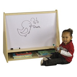 Pick-A-Book Stand with Dry Erase Board