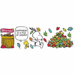Peanuts Happiness Is A Pile Of Leaves Bulletin Board Set