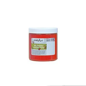 handy art washable fluorescent finger paint choice of 3 colors 8 oz