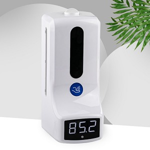 Temp 'n Spritz! Non-Contact Thermometer with Fever Alarm &  Hands Free Hand Sanitizer Dispenser, Wall Mount or Tripod Option, Latest K9 Technology, as low as $197.99 in bulk!