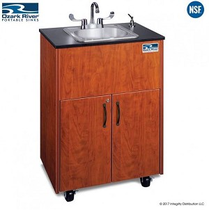 Premier Adult Size Hot Water Portable Sink with Stainless Basin