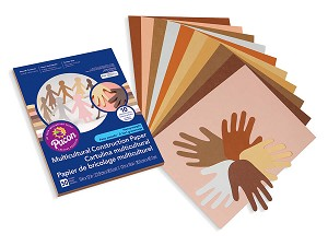 "World Colors MultiCultural Construction Paper, 9"" x 12"" - 50 Count"