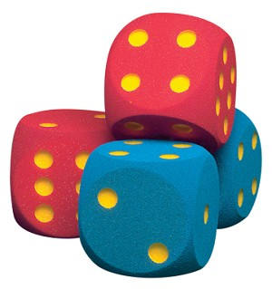 Volley Coated Foam Giant Dice, Red - Set of 2