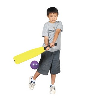 Foam Round-N-Flat Baseball Bat