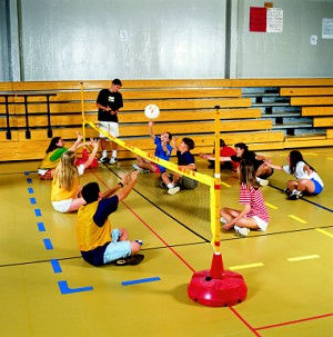 Net-N-Goal Sitting Volleyball System