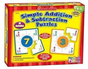 Scholastic Simple Addition and Subtraction Hands-On Learning - Puzzle Set