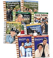 Teacher Created Materials Careers in the Community Set I, Grades 1 to 2 - Set of 8
