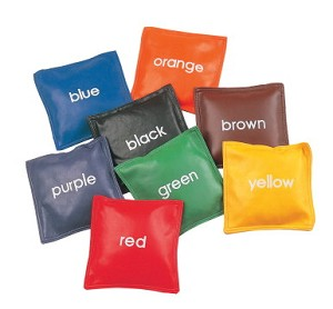 Champion Colors Vinyl Bean Bags - Set of 8