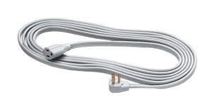 Fellowes Heavy Duty Indoor Extension Cord, 1-Outlet, (3) Prong, 15' Cord, 125 VAC, 15 A, Gray