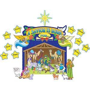 Nativity Scene Bulletin Board Display Set