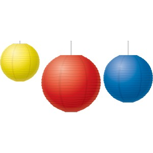 Red, Yellow & Blue - Paper Lanterns