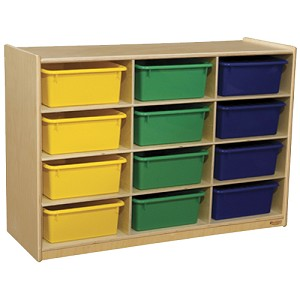 Cubby Shelves with Choice of Assorted or Clear Trays