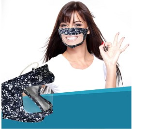 10% Off orders of $50+ on items included in our Back to School Sale: Speak Clearly Window Mask, Youth & Adult Size. Order a set of 4 random patterns, or order in bulk for as low as $8.99 each during the sale!