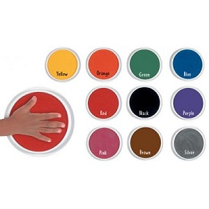 Jumbo Washable Paint/Ink Pads, Classroom Set of 10 Colors