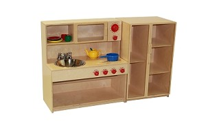 Mainstream Infant-Toddler Combo Kitchen, With or Without  Refrigerator